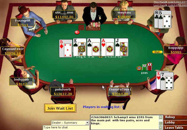 Card values in poker